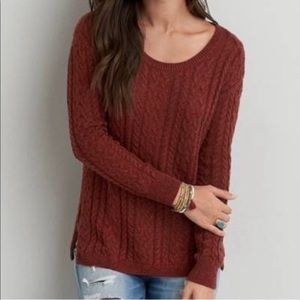 American Eagle Cable Knit Sweater Size XS AEO